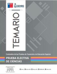 Temario Prueba Electiva Ciencias