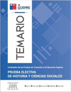 Temario Prueba Electiva Historia y Ciencias Sociales
