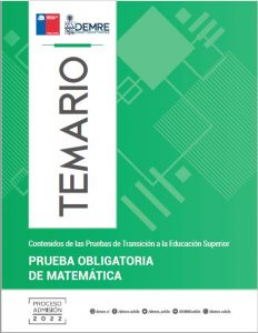 Temario Prueba Obligatoria Matemáticas